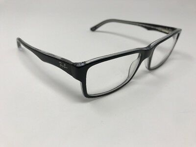 266c7492929 Ray-Ban 5245 2034 Eyeglasses Optical Frames Glasses Black on Crystal ~ 54mm  T474