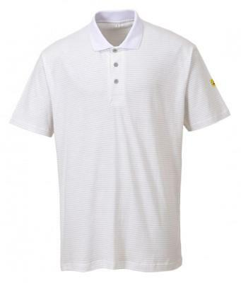Portwest AS21 Anti-Static ESD Polo Shirt Wite Sizes S to XXL