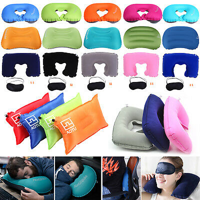 Soft Inflatable Travel Air Pillow Cushion Head Neck Rest Sleep Flight Car Plane