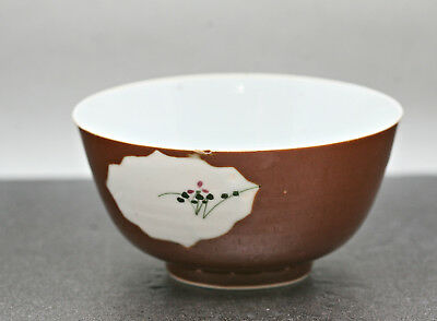 Traditional Beautiful Chinese Porcelain Bowl Hand Painted Circa 1930s