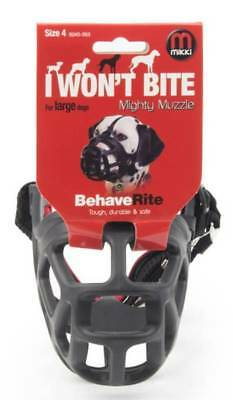 Mikki MIGHTY MUZZLE Size 4 Bite Aggresion Safe Protecting Comfortable-Black