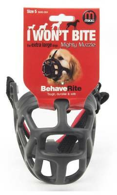 Mikki MIGHTY MUZZLE Size 5 Bite Aggresion Safe Protecting Comfortable-Black