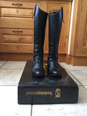tredstep donatello riding boots, size 4, slim calf
