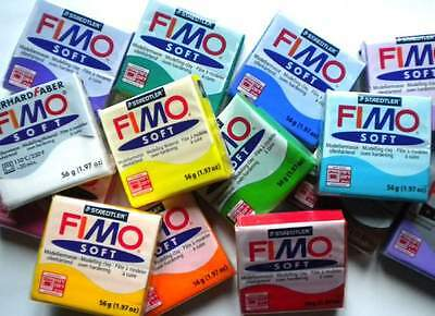 staedler job lot fimo 12 x soft effect classic 56 / 57  gram 01234