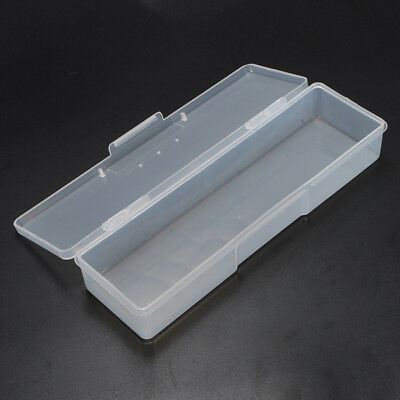 Rectangular Transparent Nail Tips Case Jewelry Watch Tool Storage Box