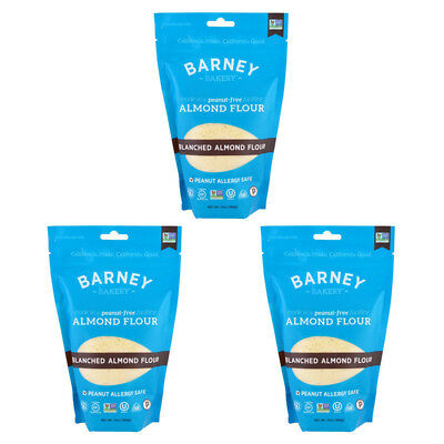3X Barney Butter Almond Fur Blanched Flour Gluten Free Peanut Allergy Safe Food