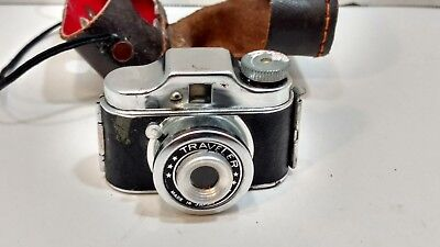 VINTAGE SUBMINIATURE MINI SPY CAMERA MADE IN JAPAN w/ LEATHER CASE