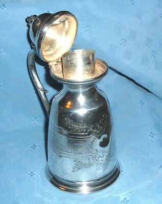 Antique Silver Syrup Pitcher - 1865