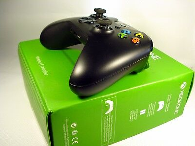 Official Microsoft Xbox One Wireless Controller Black Exellent Condition