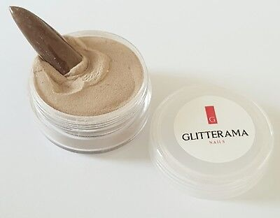 Brown coloured acrylic powder pre-mixed 4g pot colour glitterama pastel