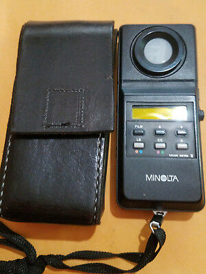 Minolta Color Meter II with Hand Made leather case