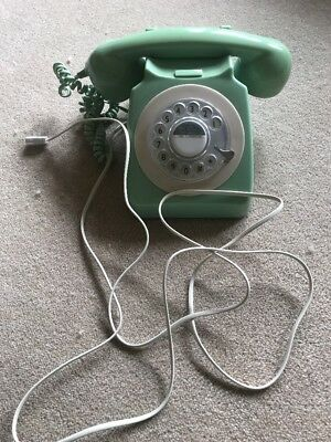 GPO 746 Telephone green - Retro Vintage Style Desk Phone- rotary Dial