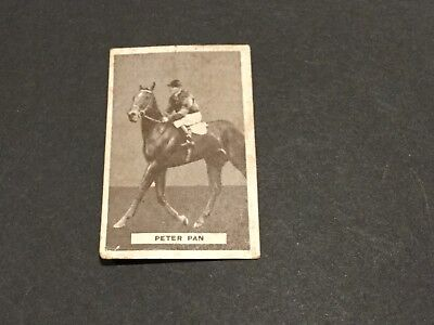 """""""melbourne Cup Winner"""" """"peter Pan"""". Card Issued By Sweetacres Chewing Gum"""