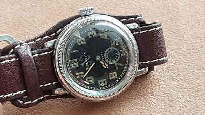 WWII German Airforce / Luftwaffe Pilots HELVETIA VINTAGE MECHANICAL WATCH 1930's