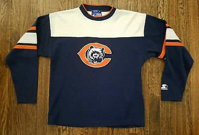 Vintage 90s STARTER Chicago Bears NFL Football Sweatshirt Rare Mens Vtg Medium