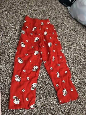 Vintage Pants Pedal Pushers Red Floral 60's
