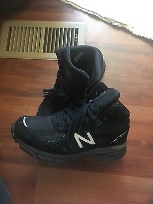 brand new ef9c6 d41dc NEW BALANCE 990 Mid Sneaker Boot Mo990Bk4 Black/Grey - Suede/Mesh - Rugged  9.5