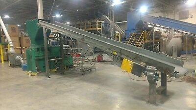"Cumberland Model 30 Granulator Grinder 100 HP Solid Rotor with 24"" Conveyor"