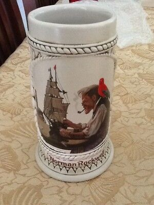 "Vintage Norman Rockwell Collectors Stein Mug ""The Captain and First Mate"""