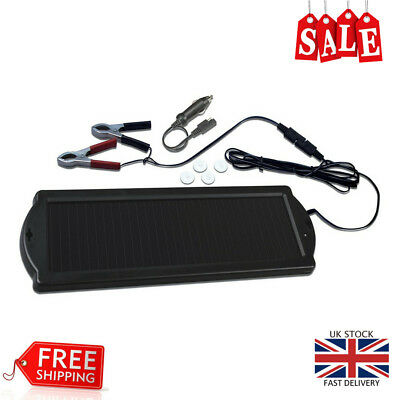 Visua Solar Powered Battery Charger Ideal for Cars Caravans Boats Camping Travel