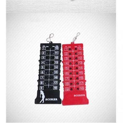 Golf Score Counter Rectangle Scoring Bag Tag 18-Hole Stroke Counter Keychain