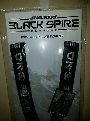 Disney Parks Star Wars Black Spire Outpost Galaxy's Edge Pin & Lanyard