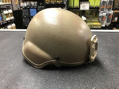 US Army MSA ACH TC 2000 Helmet Large with Upgraded Straps and NVG Mount