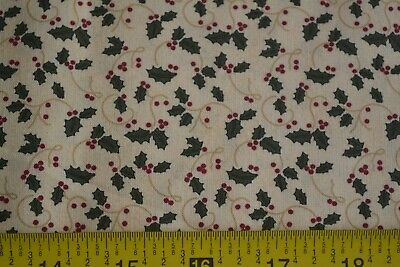Green /& Red on Brown Quilting Moda//A Simpler Time//Taylor//6392 By 1//2 Yd M8427