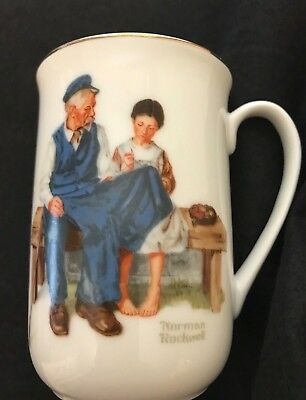 VINTAGE 1982 Authentic Norman Rockwell Museum Coffee/Tea Mug/Cup