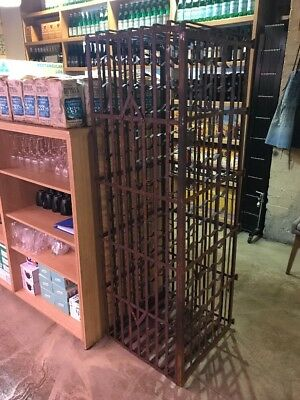 French Style Cast Iron Wine Rack $1900 Each 2 Available