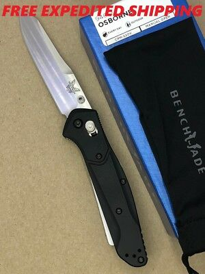Benchmade 940-2 Osborne Axis Lock Knife W/ Black G10 Handle & Plain S30V Blade
