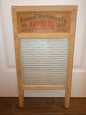 NATIONAL GLASS WASHBOARD #860 -great condition for its age!  ALL ORIGINAL! CLEAN