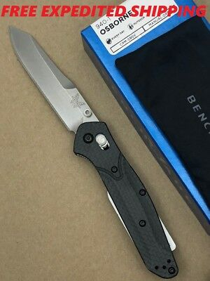 BENCHMADE Osborne AXIS Folding Knife Carbon Fiber Handle S90V Plain Edge 940-1