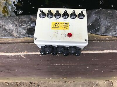 6 Way Electric Toggle Switch Box Koi Fish Pond Water Garden Lights Power Supply