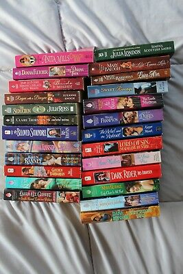 Lot of 25 Historical Romance paperback books, no duplicates see list