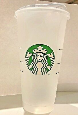STARBUCKS Reusable Frosted Plastic VENTI Iced Cup with Flat Lid Sippie Lid NEW