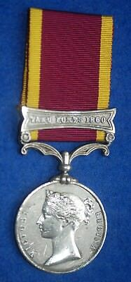 Original Second China War Medal with Clasp for Taku Forts 1860 - Robert Wyatt