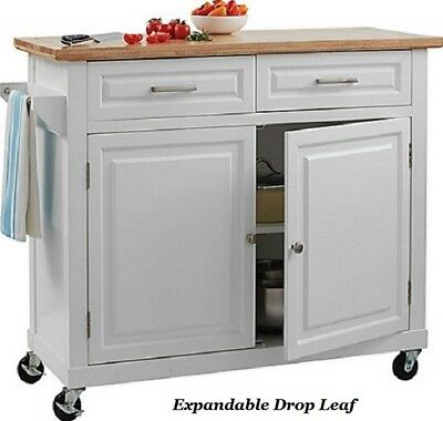 Small Kitchen Island Movable Rolling Cart Wheels Slim