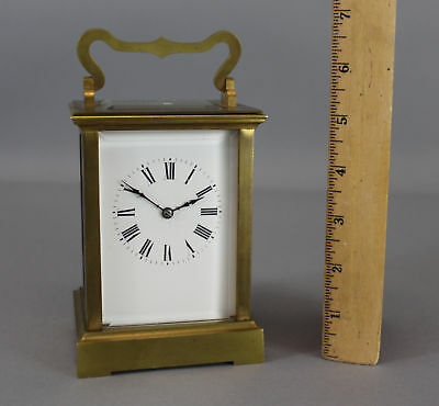 Large Antique 19thC Gold Gilt Bronze Carriage Clock, NR!