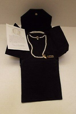 Honora Pearl Necklace and Bracelet Set w/ 14k heart toggle clasps EUC Lot of 2