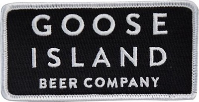 aec4fc87 GOOSE ISLAND BEER CO Text Block Patch 4in Brewery Brewing Sew On Patch si