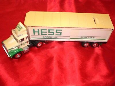 Hess Gasoline Semi Truck Coin Bank