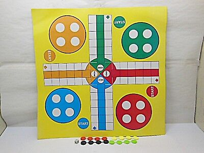 40 Fun Paper Flying Chess Game for Kids 4 Players 34x34cm