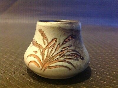 Ellis Wheat Pattern Signed Toothpick Holder / Egg Cup ?