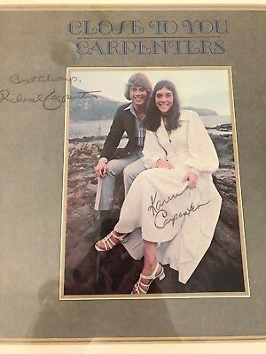 """The Carpenters """"Close to You"""" framed signed lp with Certificate Of Authenticity"""
