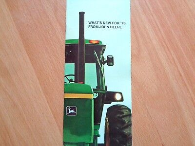 John Deere What's New for 1973 brochure 4030-4630 tractors & more 36 pgs VG *