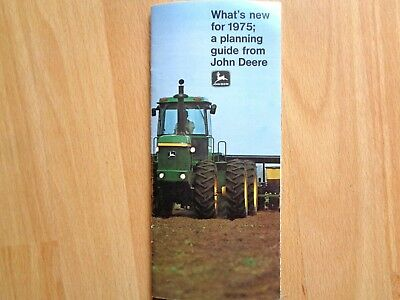 John Deere What's New for 1975 brochure 8430-8630 tractors 6600 sidehill 36pg VG