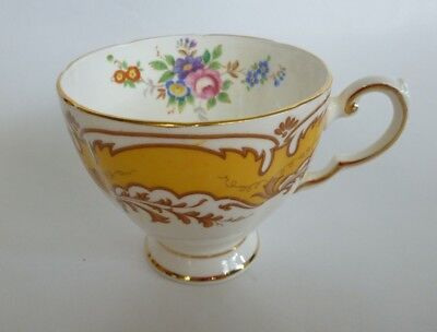 PLANT Tuscan China England Tea Cup Porcelain Ceramic White Yellow Floral
