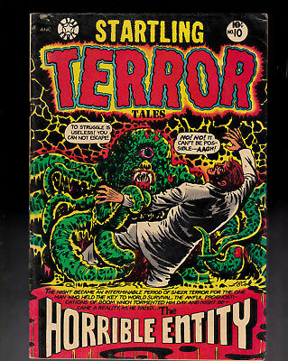 Startling Terror Tales 10  L B Cole cover holes punched in 2 interior pages