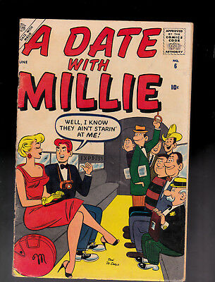 A Date with Millie 6 1st Series Dan DeCarlo art Paper Dolls Millie the Model